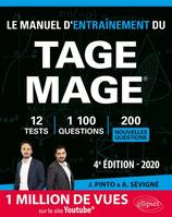 LE MANUEL D'ENTRAINEMENT DU TAGE MAGE  12 TESTS BLANCS + 1100 QUESTIONS + 1100 VIDEOS  EDITION 202