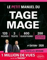 LE PETIT MANUEL DU TAGE MAGE - 3 TESTS BLANCS + 120 FICHES DE COURS + 600 QUESTIONS + 600 VIDEOS  E