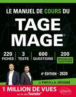 LE MANUEL DE COURS DU TAGE MAGE  3 TESTS BLANCS + 200 FICHES DE COURS + 700 QUESTIONS + 700 VIDEOS