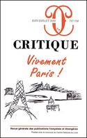 CRITIQUE 757 -758. VIVEMENT PARIS!