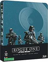 star wars : rogue one (spin off) STEELBOOK BLU-RAY 3D + BLU-RAY 2D + BLU-RAY 2D Bonus