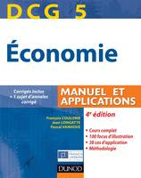 DCG, DCG 5 - Économie - 4e édition - Manuel et applications, Manuel et applications, corrigés inclus, 5