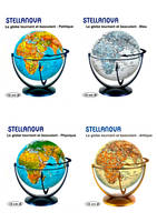 DISPLAY MIXTE 4 GLOBES 15 CM