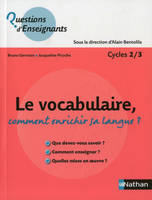 Le vocabulaire, comment enrichir sa langue ?