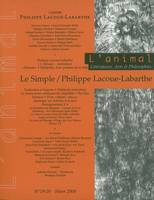ANIMAL N 19-20 - LACOUE-LABARTHE/LE SIMPLE