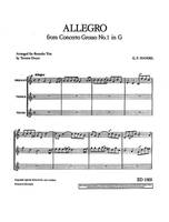 Allegro from Concerto Grosso No 1 in G, from Concerto Grosso No. 1 in G