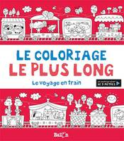 Le coloriage le plus long - Le voyage en train