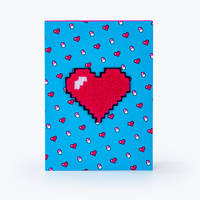 Notebook Coeur A5 bleu