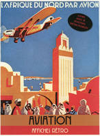 Aviation / portfolio de 8 affiches publicitaires cultes
