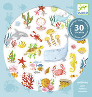 Stickers texture aqua dream