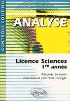 ANALYSE - LICENCE SCIENCES 1RE ANNEE, licence sciences, 1re année