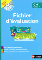 L'ATELIER DE LECTURE - FICHIER EVALUATION + CD - CM1