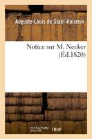 Notice sur M. Necker