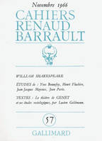 Cahiers Renaud Barrault, William Shakespeare
