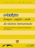 E-Lexique Francais Anglais Arabe Des Relations Internationales