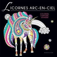 Coloriage Black - Licornes arc-en-ciel