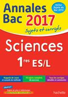 Annales Bac 2017 - Sciences 1ères L/ES