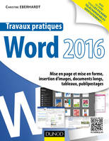 Travaux pratiques avec Word 2016 - Mise en page et mise en forme, insertion d'images, document long, Mise en page et mise en forme, insertion d'images, documents longs, tableaux, publipostages