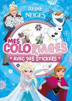 LA REINE DES NEIGES - Mes Coloriages avec Stickers - Disney