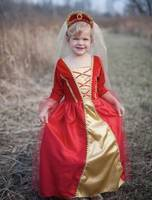 Robe royale rouge 5/6 ans