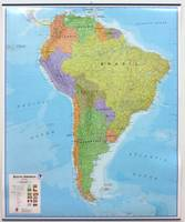 SOUTH AMERICA  1/7M PLAST. 120X100 CM