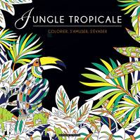 Black coloriage Jungle tropicale