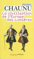 LA CIVILISATION DE L'EUROPE DES LUMIERES