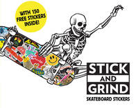STICK AND SKATE SKATEBOARD STICKERS /ANGLAIS