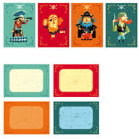 Cartes invitation des Pirates