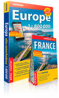 Atlas routier europe 2019/2020 1/800.000 + carte f