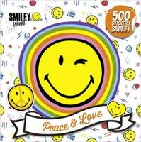 Peace & love / 500 stickers smiley