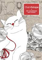 Chat thérapie, 100 coloriages anti-stress