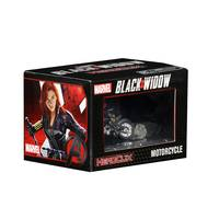 Black Widow on motorcycle