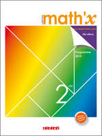 Math'x 2de - manuel grand format - édition 2010