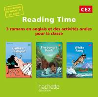 Reading Time CE2 - CD audio classe des 3 ouvrages - Edition 2013
