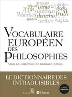 VOCABULAIRE EUROPEEN DES PHILOSOPHIES