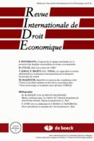 REVUE INTERNATIONALE DE DROIT ECONOMIQUE 2005/3