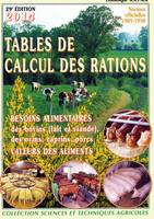 Tables de calcul des rations, normes 1989-1998