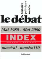 Index du «Débat», Mai 1980 - Mai 2000