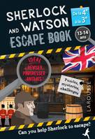 Sherlock and Watson escape book / de la 4e à la 3e, 13-14 ans : can you help Sherlock to escape?