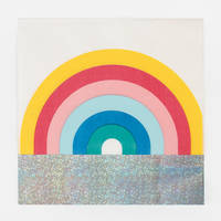 Arc en ciel lot 16 serviettes en papier