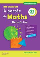 Le Nouvel A portée de maths CE2 - Photofiches + CD - Edition 2019