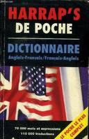 Harrap's de poche, anglais/français, English-French dictionary, dictionnaire français-anglais
