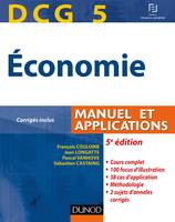 DCG 5 - Économie - 5e édition - Manuel et applications, Manuel et applications