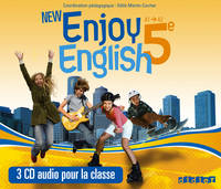 New Enjoy English 5e - Coffret - CD audio classe