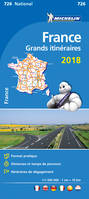 CR : France Grand itineraires 2018 1/1000000