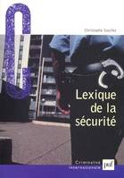 LEXIQUE DE LA SECURITE
