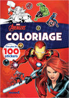 Marvel Avengers - Coloriage avec plus de 100 stickers (Black Widow et Iron Man)