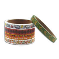 LOT DE 5 MINI MASKING TAPE FLEURIS