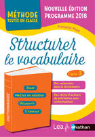 Structurer le vocabulaire - CM1/CM2